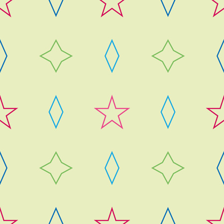Seamless pattern of geometric shapes. Childhood pattern with simple geometric shapes. Background of the figures. Banco de Imagens - 124983419