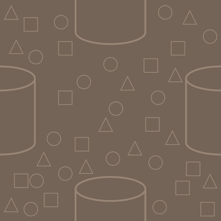 Seamless pattern of geometric shapes. Childhood pattern with simple geometric shapes. Background of the figures. Banco de Imagens - 124983431