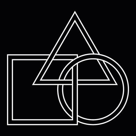 Vector illustration of geometric shapes. Logo from geometric shapes. Banco de Imagens - 124983435