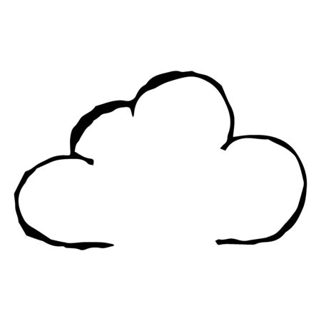 Cloud. Vector illustration. Simple hand drawing icon.