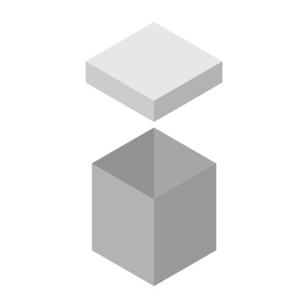 Vector illustration of a big cardboard box.