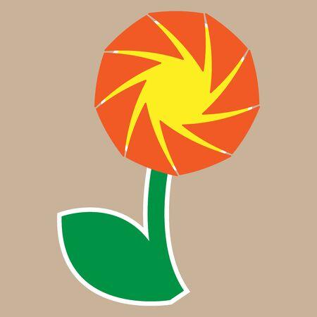 Vector illustration of a flower.