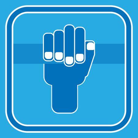 Vector of a human hand holding a handrail, a handrail, a crossbar. Çizim