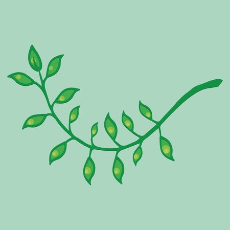 Laurel branch icon. Vector illustration of a branch with leaves. Hand drawn crossed laurel branches with leaves. Фото со стока - 131914593