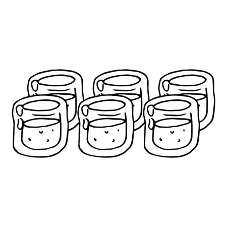 Vector of a glass for alcohol. Hand drawn glass for vodka. 向量圖像