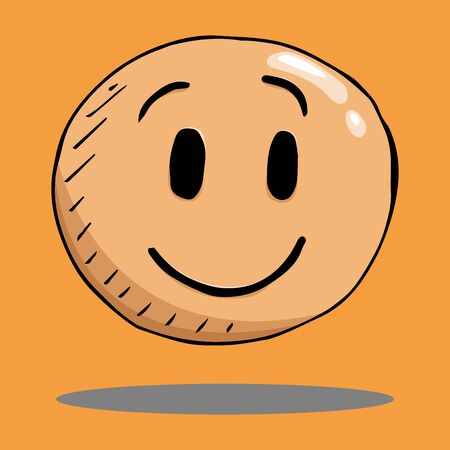 Smile face icon. Vector illustration face with emotions. Hand drawn face with a smile. 일러스트