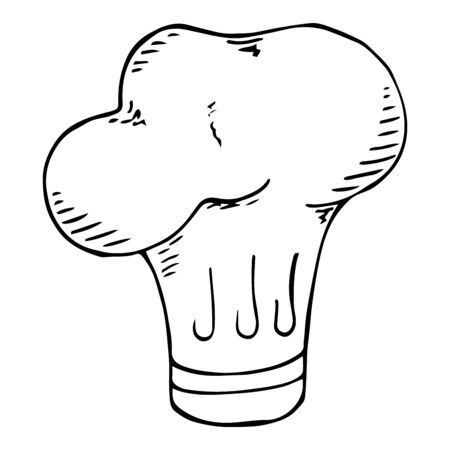 Vector illustration headdress cook. Hand drawn headdress cook. Çizim