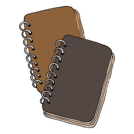 Set notepad, sketchbook icon. Vector illustration of a notebook for drawing, sketchbook. Hand drawn  sketchbook.