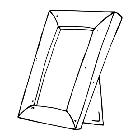 Photo frame icon. Vector illustration of an empty photo frame. Hand drawn photo frame.