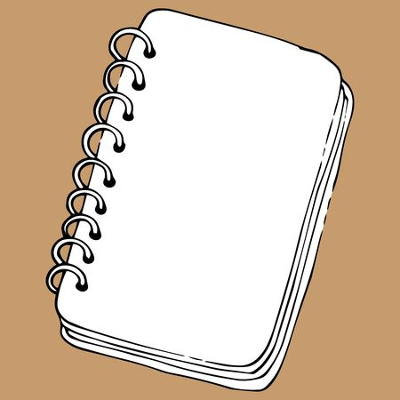 Notepad, sketchbook icon. Vector illustration of a notebook for drawing, sketchbook. Hand drawn  sketchbook.