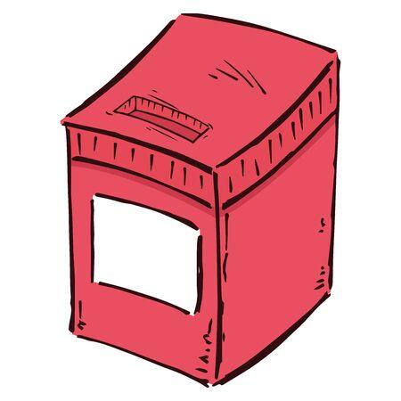 Ballot box icon. Hand drawn voting box. Vector illustration box.