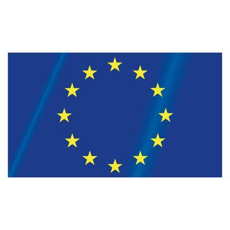 EU flag. Vector illustration of the flag of the European Union. Çizim