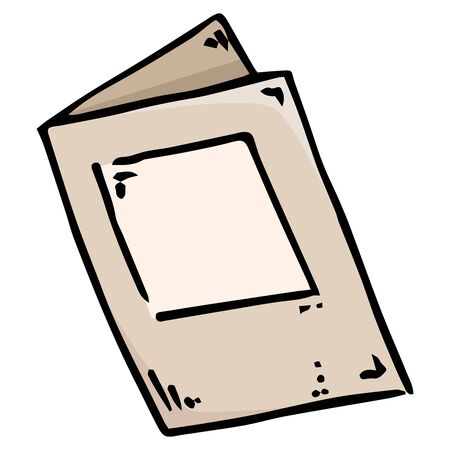 Document, empty blank, brochure icon. Vector illustration of ballot paper. Hand drawn form, document.