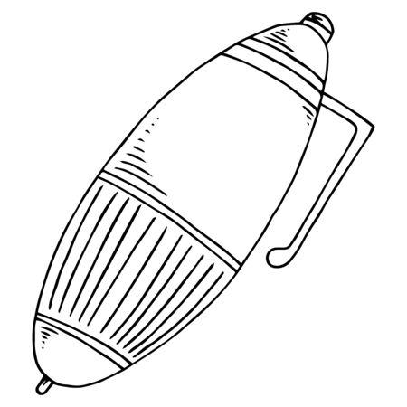 Pen icon. Vector of a pen. Hand drawn pen.