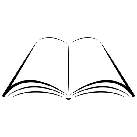 Book, notebook icon. Vector illustration silhouette of a book, a notebook with a blank space for text. 向量圖像
