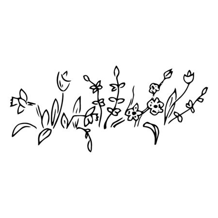 Flower icon. Vector illustration of spring. Hand drawn spring flower. Ilustracja