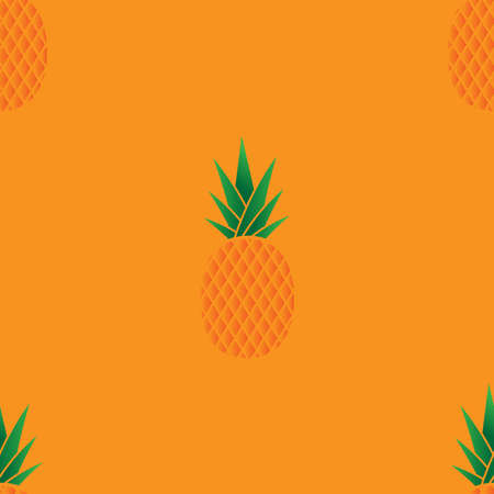 Pineapple seamless pattern. Vector illustration of a seamless pattern of pineapple.