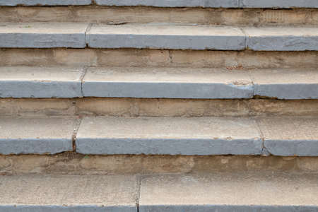 Stone stairs background. Staircase on the street. Archivio Fotografico