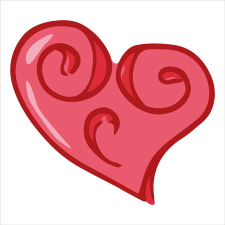 Heart icon. Vector illustration of a heart. Hand drawn doodle heart.  イラスト・ベクター素材