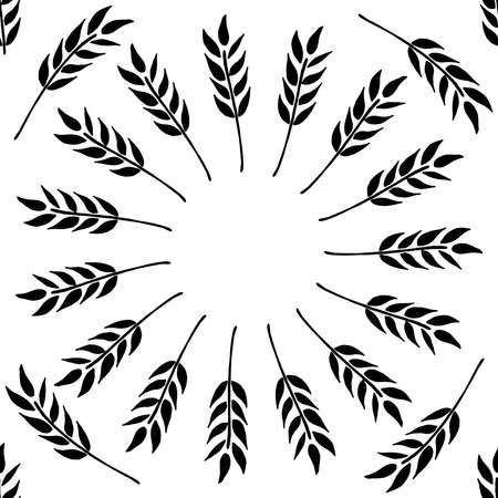Seamless pattern of malt, wheat. Vector of a seamless pattern of wheat. Hand drawn malt, wheat.  イラスト・ベクター素材