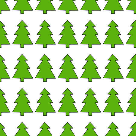Christmas tree seamless pattern. Vector illustration of a seamless pattern of the Christmas tree on Holiday.