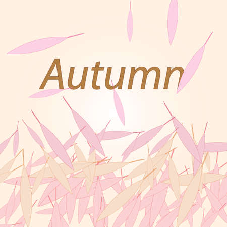 Autumn surrounded by dancing falling leaves