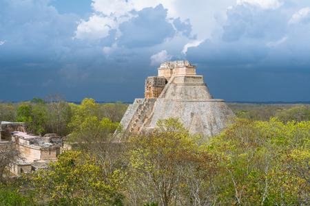 Uxmal Yucatans main pyramid Mexico.