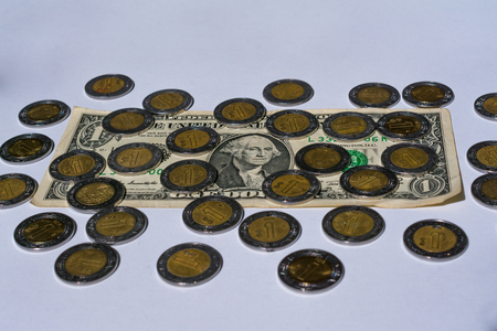 There are many Mexican pesos around an American dollar.