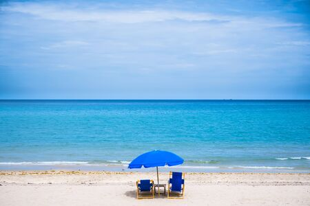 Chairs await tourists in Palm Beach Florida.