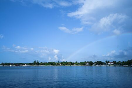 Landscape of Lantana Lake, Florida in the United States of America.