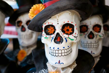 The skull is ready for the party. Фото со стока - 131485226