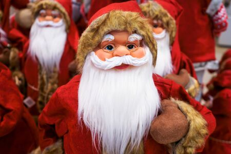 Santa Claus is dressed in his red suit and sports his very long beard. Stok Fotoğraf