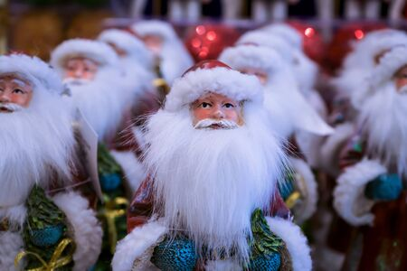 Many men like Santa Claus have a very long white beard. Stok Fotoğraf