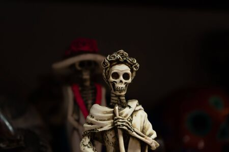 Skulls brighten the day of the dead in Mexico. Stockfoto