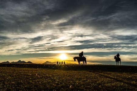 Sunset on horseback in the Sierra Occidental de Jalisco.