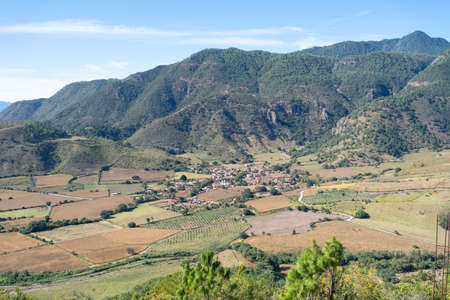 Panoramic view of the town of Santa Rosa in the Municipality of Mascota Jalisco.