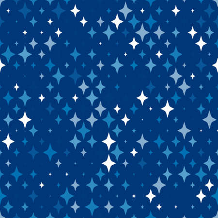 repeated: Vector geometric seamless pattern with geometric shapes, stars.