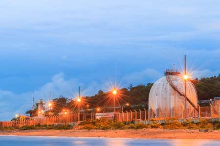 storage: Natural Gas storage tanks in industrial plant