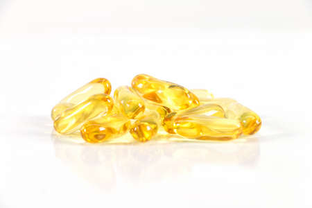 capsules tablets: Fish Oil Capsules  Tablets  Pills  Supplements, Isolated On White Background