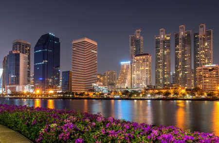 Bangkok city town and the water park, Thailand. Foto de archivo