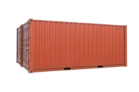 Container Cargo Delivery isolated on white background. this has clipping path.