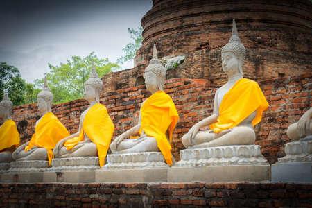 Buddha Statues in Ayutthaya, Thailand Foto de archivo