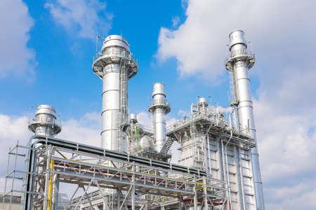 power plant in the petrochemical plant at blue sky Foto de archivo
