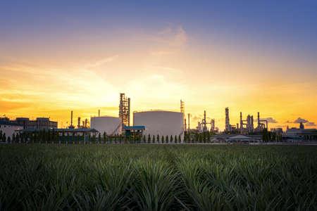 Natural Gas storage tanks , Oil tank , LPG , Petrochemical plant , Petroleum Foto de archivo