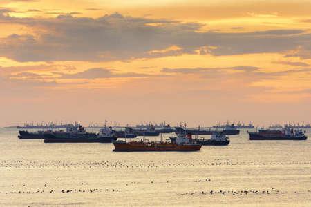 LPG cargo ship docked in the port