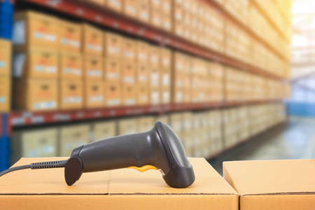 barcode scanner in warehouse