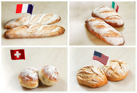 different countries: Different countries bread Stock Photo
