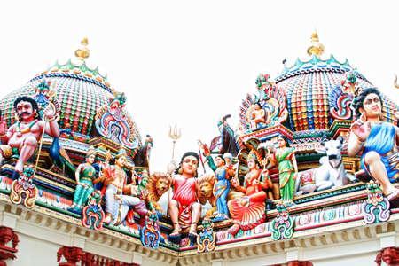 mariamman: Sri Mariamman temple Singapore colorful Hindu religion