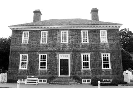 historic: Bricks construction historic house black white