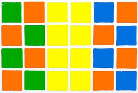 gree: Glazed tiles colorful orange blue yellow gree